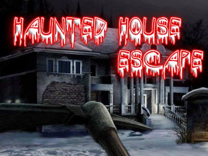 Haunted house escape poster