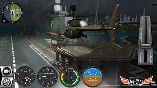 Screenshots do Helicopter simulator 2016. Flight simulator online: Fly wings - Perigoso para tablet e celular Android.