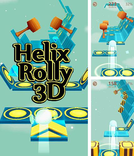 Helix rolly 3D: Twisty adventure bouncing ball