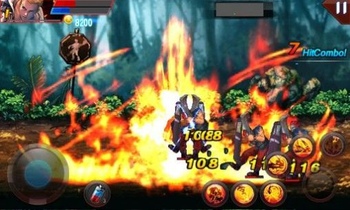 Hell fire: Fighter king. Fist of flame screenshot 1