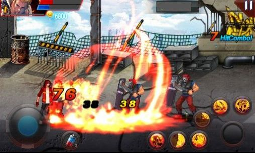 Screenshots do Hell fire: Fighter king. Fist of flame - Perigoso para tablet e celular Android.