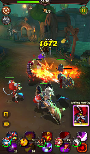 Screenshots do Hello hero: Epic battle - Perigoso para tablet e celular Android.