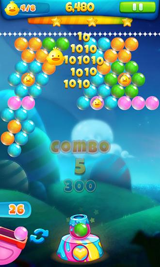 Capturas de pantalla de Hero bubble shooter para tabletas y teléfonos Android.