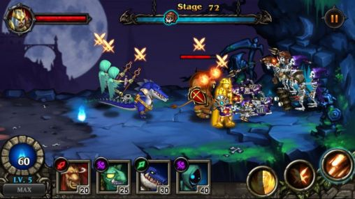 Screenshots von Hero defense: Kill undead für Android-Tablet, Smartphone.