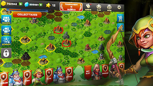 Screenshots von Hero rush: Conquest of kingdoms. The mad king für Android-Tablet, Smartphone.