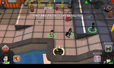 Screenshots of the HeroClix TabApp Elite for Android tablet, phone.