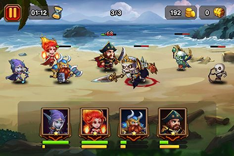 Screenshots von Heroes charge für Android-Tablet, Smartphone.