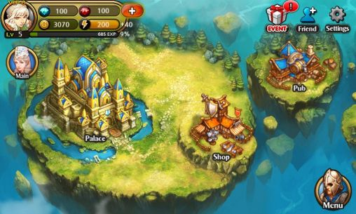 Screenshots von Heroes of Atlan für Android-Tablet, Smartphone.
