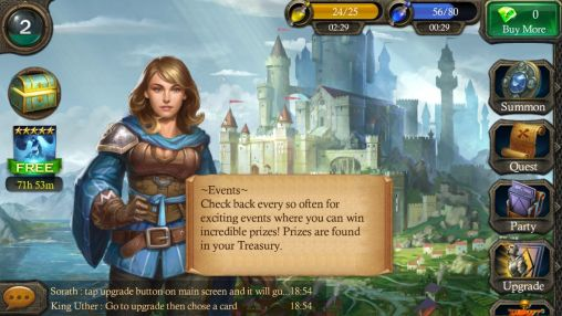 Screenshots von Heroes of Camelot für Android-Tablet, Smartphone.