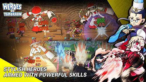 Screenshots of the Heroes of tomorrow for Android tablet, phone.