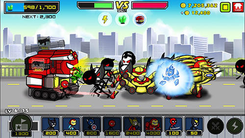 Screenshots von Heroes wars: Super stickman defense für Android-Tablet, Smartphone.