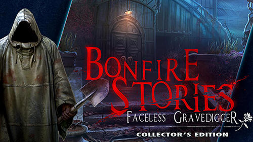 Hidden. Bonfire stories: Faceless gravedigger. Collector's edition poster