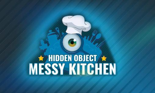 Hidden object: Messy kitchen poster