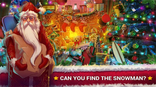 Kostenloses Android-Game Versteckte Objekte: Weihnachtsgeschenke. Vollversion der Android-apk-App Hirschjäger: Die Hidden objects: Christmas gifts für Tablets und Telefone.