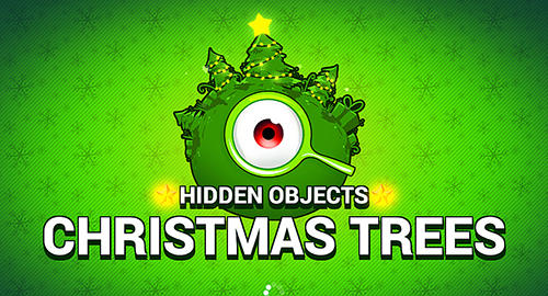 Hidden objects: Christmas trees poster