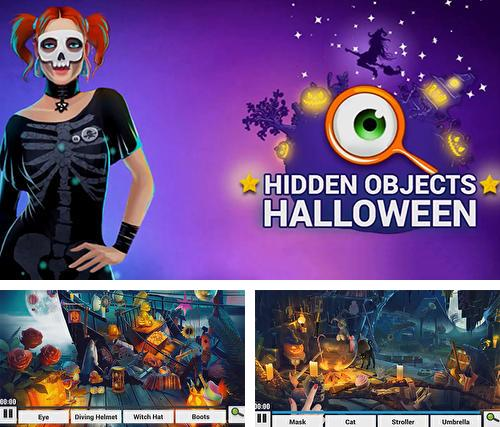 Hidden objects. Halloween games: Haunted holiday