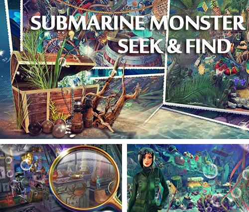 Hidden objects: Submarine monster. Seek and find