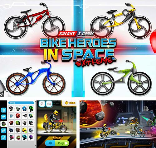 High speed extreme bike race game: Space heroes