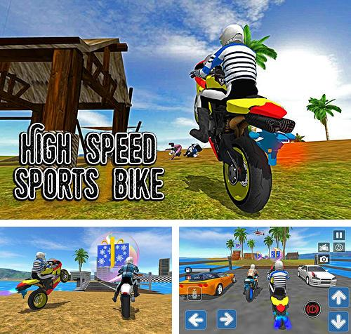 High speed sports bike sim 3D