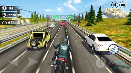 Highway moto rider: Traffic race скриншот 2