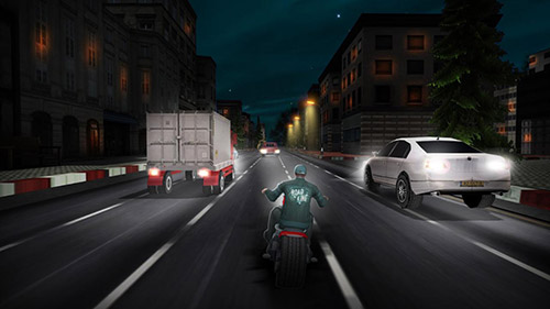 安卓平板、手机Highway moto rider: Traffic race截图。
