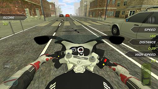 Highway motorbike rider screenshot 2