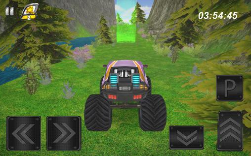 Hill climb AED monster truck скриншот 2