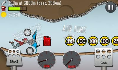 Screenshots do Hill Climb Racing - Perigoso para tablet e celular Android.