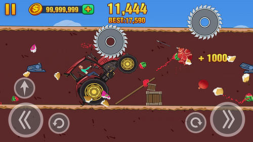 Скачати гру Hill dismount: Smash the fruits на Андроїд телефон і планшет.