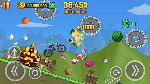 Гра Hill dismount: Smash the fruits на Android - повна версія.