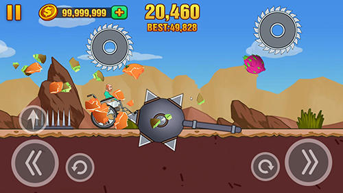 Screenshots von Hill dismount: Smash the fruits für Android-Tablet, Smartphone.