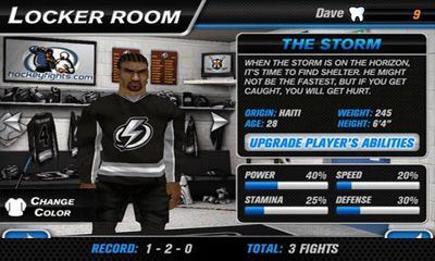 Kostenloses Android-Game Hockey Kampf Pro. Vollversion der Android-apk-App Hirschjäger: Die Hockey Fight Pro für Tablets und Telefone.