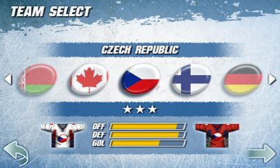 Juega a Hockey Nations 2010 para Android. Descarga gratuita del juego Naciones de Hockey 2010.