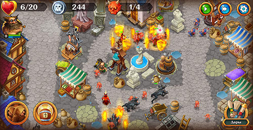 Screenshots von Holy towers TD für Android-Tablet, Smartphone.