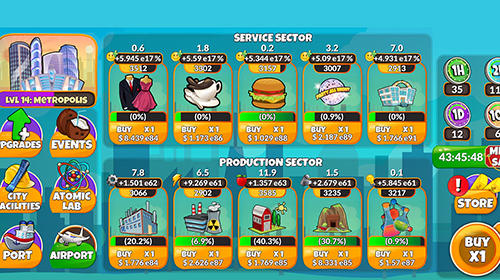 Holyday city tycoon: Idle resource management скриншот 2