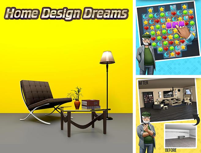 Zusätzlich zum Spiel Caffice: Geh Arbeiten! für Android-Telefone und Tablets können Sie auch kostenlos Home design dreams: Design your dream house games, Haus-Design Träume: Gestalte dein eigenes Traumhaus herunterladen.