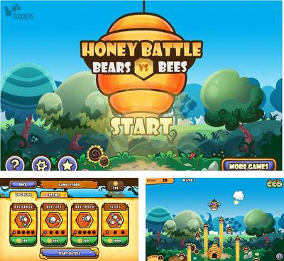 En plus du jeu Kolobok pour téléphones et tablettes Android, vous pouvez aussi télécharger gratuitement Les Guerres de Miel - Les Ours contre les Abeilles, Honey Battle - Bears vs Bees.