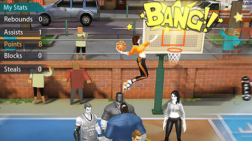 Screenshots von Hoop legends: Slam dunk für Android-Tablet, Smartphone.
