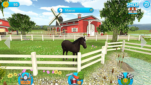 Screenshots of the Horse world: Show jumping for Android tablet, phone.