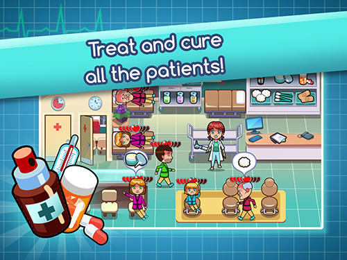 Kostenloses Android-Game Hospital Dash: Simulatorspiel. Vollversion der Android-apk-App Hirschjäger: Die Hospital dash: Simulator game für Tablets und Telefone.