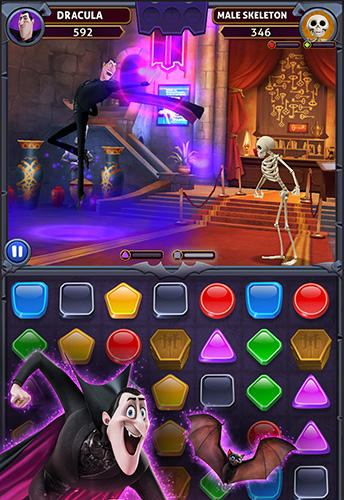 Screenshots von Hotel Transylvania: Monsters! Puzzle action game für Android-Tablet, Smartphone.