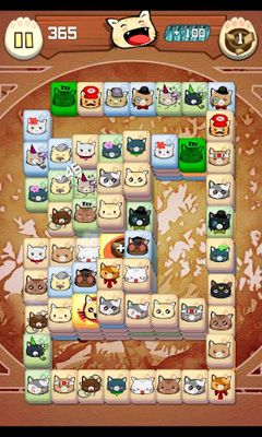 Hungry Cat Mahjong screenshot 1