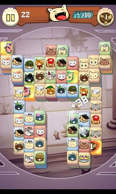 Screenshots do Hungry Cat Mahjong - Perigoso para tablet e celular Android.
