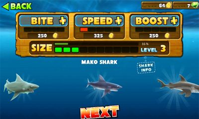 Screenshots von Hungry Shark Evolution für Android-Tablet, Smartphone.