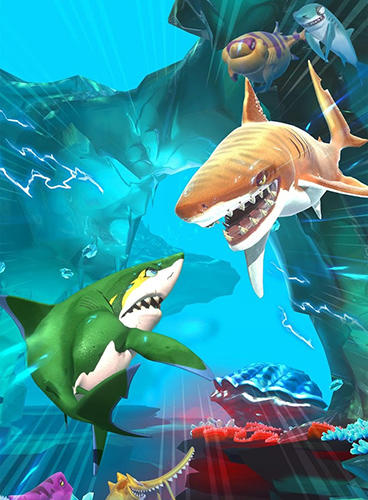 Screenshots von Hungry shark: Heroes für Android-Tablet, Smartphone.