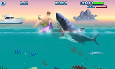 Capturas de pantalla de Hungry Shark - Part 3 para tabletas y teléfonos Android.