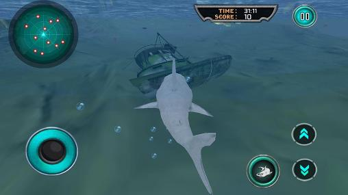 Screenshots von Hungry white shark revenge 3D für Android-Tablet, Smartphone.