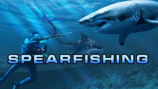 Hunter underwater spearfishing poster