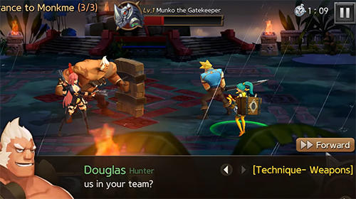 Écrans de Hunters league: Weapon masters' art of battle war pour tablette et téléphone Android.
