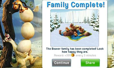 Kostenloses Android-Game Ice Age Village. Vollversion der Android-apk-App Hirschjäger: Die Ice Age Village für Tablets und Telefone.